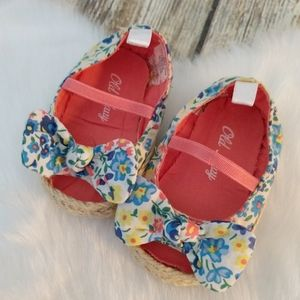 Old Navy baby open toe floral shoes
